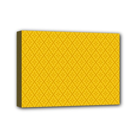 Yellow Flower Mini Canvas 7  X 5  by AnjaniArt
