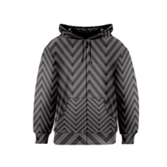 Background Gray Zig Zag Chevron Kids  Zipper Hoodie by AnjaniArt