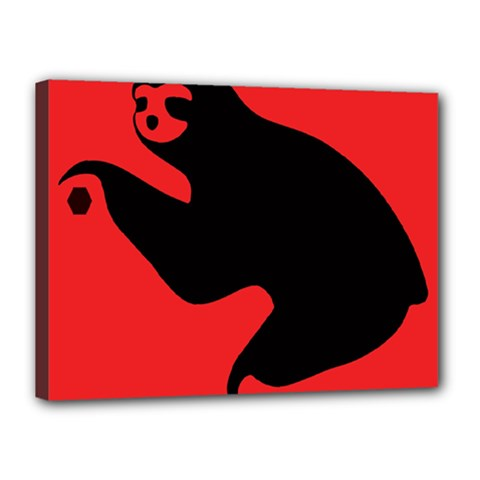Animal Sloth Canvas 16  X 12  by AnjaniArt