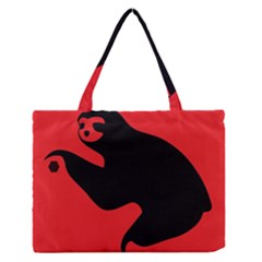 Animal Sloth Medium Zipper Tote Bag