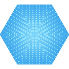 Blue Stars Background Mini Folding Umbrellas by AnjaniArt