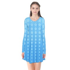 Blue Stars Background Flare Dress by AnjaniArt