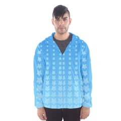 Blue Stars Background Line Hooded Wind Breaker (men)