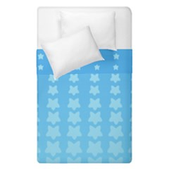 Blue Stars Background Line Duvet Cover Double Side (single Size)