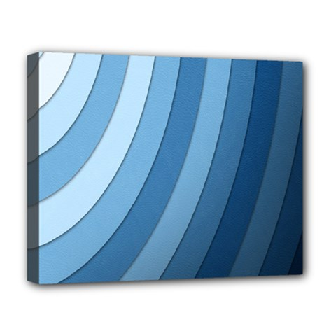 Blue Wave Deluxe Canvas 20  X 16   by AnjaniArt