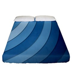 Blue Wave Fitted Sheet (queen Size)
