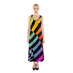 Casino Cat On The Verge Of Scratch Attack Sleeveless Maxi Dress