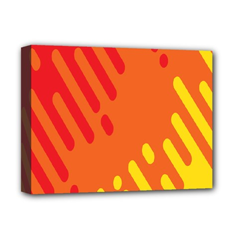 Color Minimalism Red Yellow Deluxe Canvas 16  X 12   by AnjaniArt