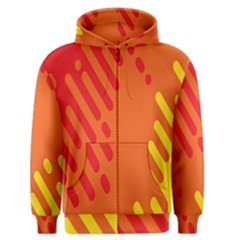 Color Minimalism Red Yellow Men s Zipper Hoodie by AnjaniArt
