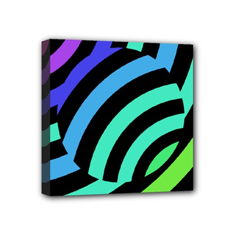 Colorful Roulette Ball Mini Canvas 4  X 4  by AnjaniArt