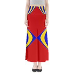 Concentric Hyperbolic Red Yellow Blue Maxi Skirts by AnjaniArt