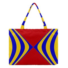 Concentric Hyperbolic Red Yellow Blue Medium Tote Bag by AnjaniArt