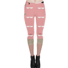 Cool Rose Capri Leggings
