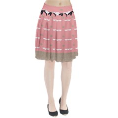 Cool Rose Pleated Skirt