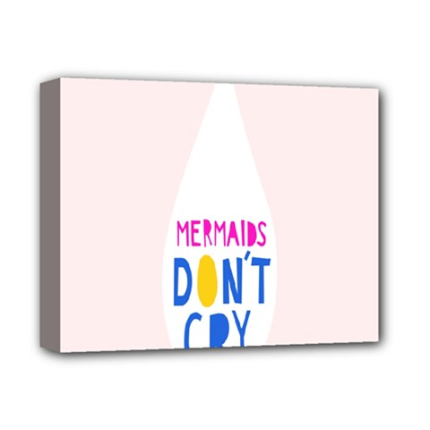 Dont Crt Fun Mermaids Pink Deluxe Canvas 14  X 11  by AnjaniArt