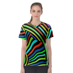 Colorful Cat Women s Sport Mesh Tee