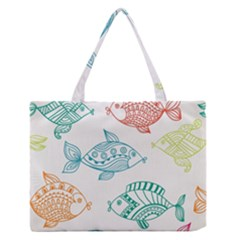 Fish Medium Zipper Tote Bag by AnjaniArt