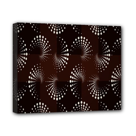 Free Dot Spiral Seamless Canvas 10  X 8  by AnjaniArt
