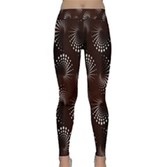 Free Dot Spiral Seamless Classic Yoga Leggings by AnjaniArt