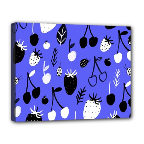 Fruit Strobery Leci Purple Canvas 14  X 11  by AnjaniArt