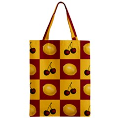 Fruit Pattern Zipper Classic Tote Bag