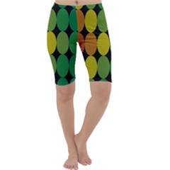 Geometry Round Colorful Cropped Leggings