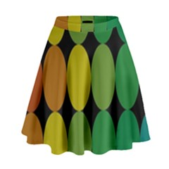 Geometry Round Colorful High Waist Skirt by AnjaniArt