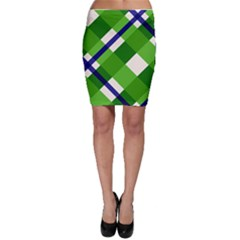 Green Plaid Bodycon Skirt
