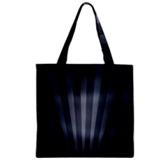 Grey Black Zipper Grocery Tote Bag by AnjaniArt