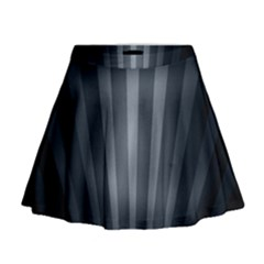 Grey Black Mini Flare Skirt