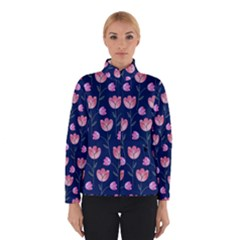 Flower Tulip Floral Pink Blue Winterwear by AnjaniArt