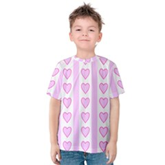 Heart Pink Valentine Day Kids  Cotton Tee by AnjaniArt