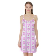 Heart Pink Valentine Day Satin Night Slip