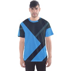 Lines Textur  Stripes Blue Men s Sport Mesh Tee by AnjaniArt