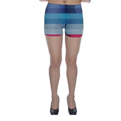 Line Light Stripes Colorful Skinny Shorts