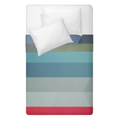 Line Light Stripes Colorful Duvet Cover Double Side (single Size) by AnjaniArt