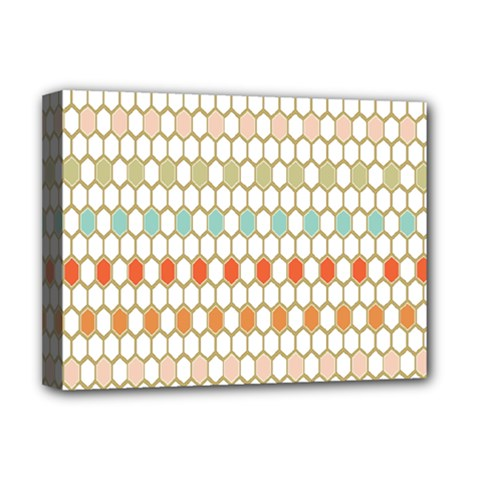 Lab Pattern Hexagon Multicolor Deluxe Canvas 16  X 12