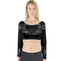 Love Valentine Day Long Sleeve Crop Top by AnjaniArt