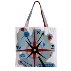 Navigation Zipper Grocery Tote Bag
