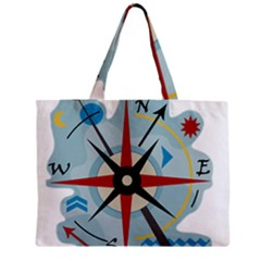 Navigation Zipper Mini Tote Bag by Valentinaart