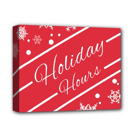 Winter Holiday Hours Deluxe Canvas 14  X 11  by Amaryn4rt