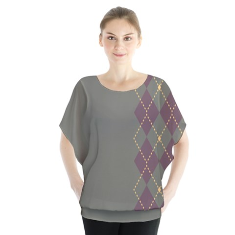 Minimalism Grey Background Blouse by AnjaniArt