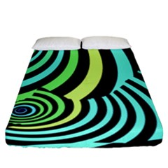 Optical Illusions Checkered Basic Optical Bending Pictures Cat Fitted Sheet (king Size) by AnjaniArt