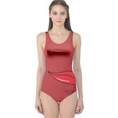 Paint A Ladybug Face One Piece Swimsuit