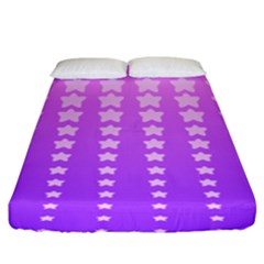 Purple And Pink Stars Fitted Sheet (king Size) by AnjaniArt