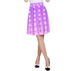 Purple And Pink Stars Line A-line Skirt