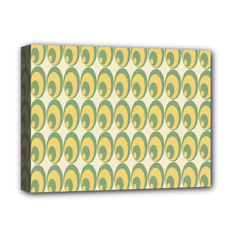 Pattern Circle Green Yellow Deluxe Canvas 16  X 12
