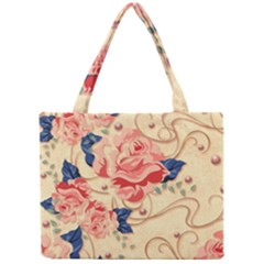 Beautiful Pink Roses  Mini Tote Bag by Brittlevirginclothing