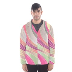 Abstract Colorful Background Wavy Hooded Wind Breaker (men) by Amaryn4rt