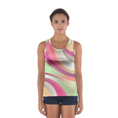 Abstract Colorful Background Wavy Women s Sport Tank Top  by Amaryn4rt